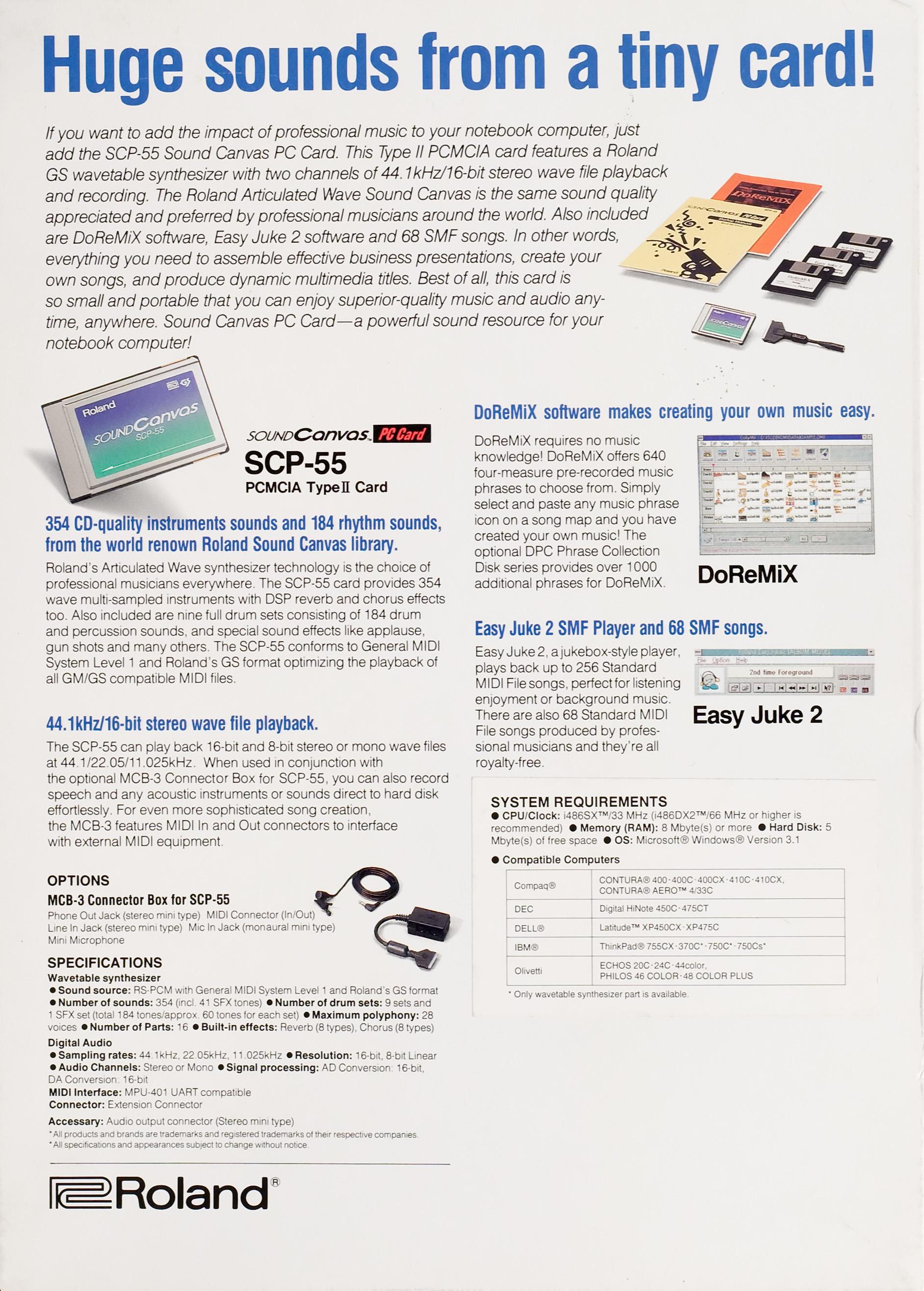 Roland SCP-55 Box [BACK-ENGLISH] -