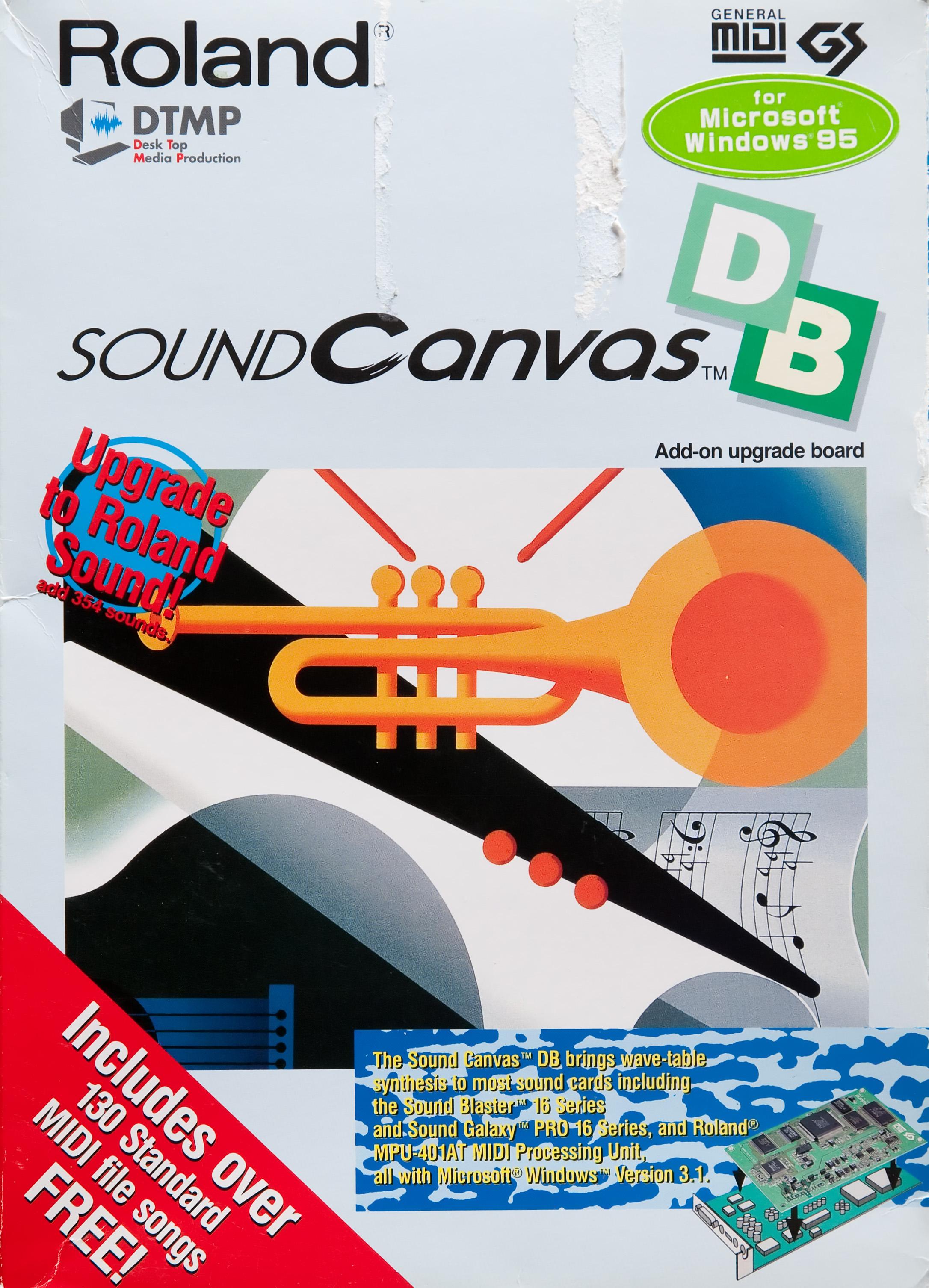 Roland Sound Canvas SCB-55 (SCD-15) Box (FRONT-ENGLISH) -